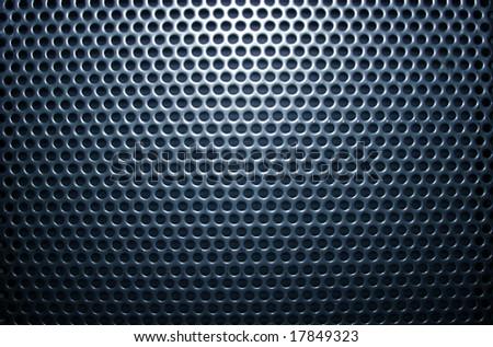 blue metal mesh texture - stock photo