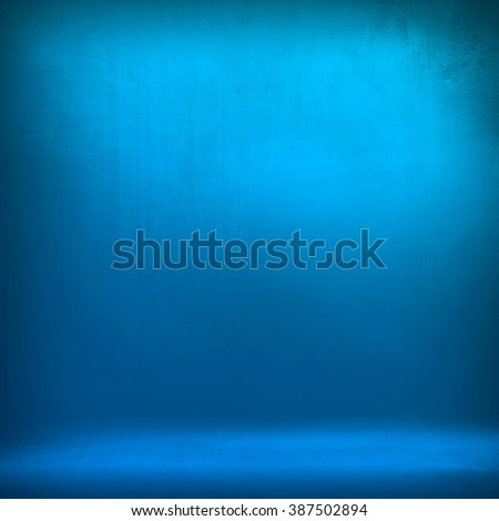 blue metal plate - stock photo