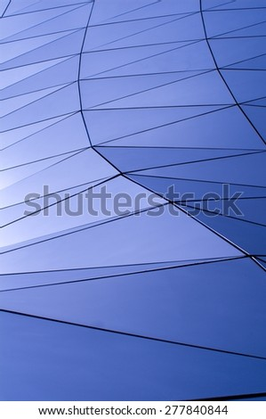 blue metallic pattern - stock photo