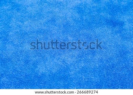 blue micro fiber fabric texture background - stock photo
