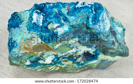blue mineral - stock photo