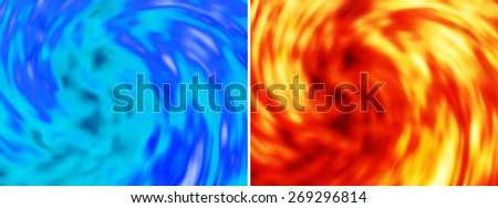Blue modern background - stock photo
