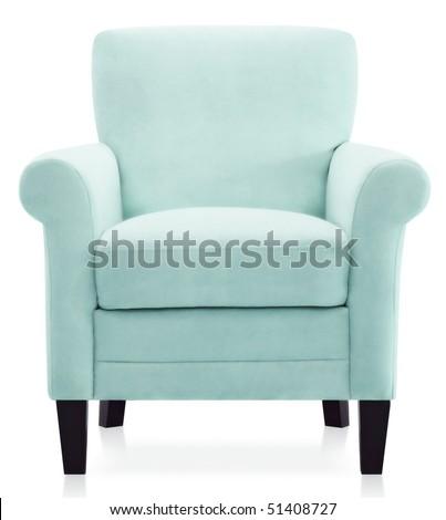 Blue Modern Baroque Armchair