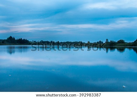 Blue mood at a lake in Longford, Ireland.