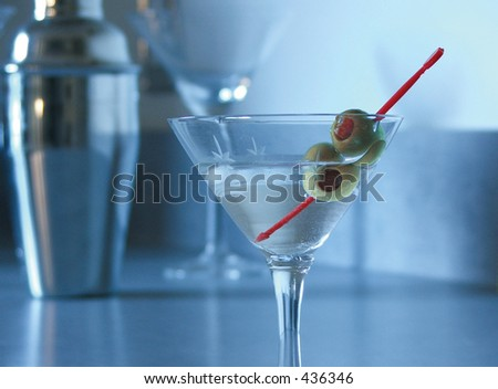 Blue Mood Martini - stock photo
