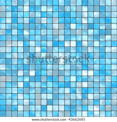 Blue mosaic background