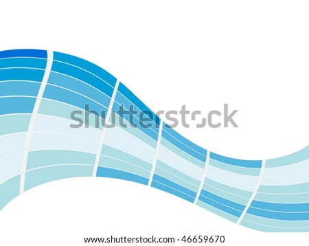 Blue mosaic curve with space for text