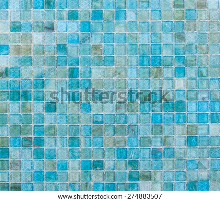 Blue Mosaic Tiles abstract texture and background