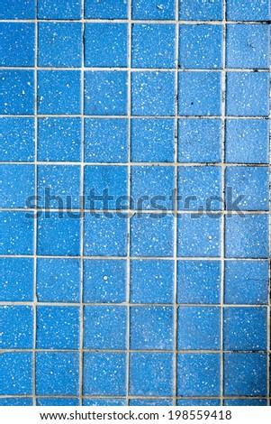 blue mosaic tiles texture - stock photo