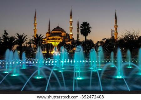 blue mosque - stock photo