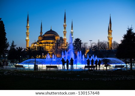 Blue Mosque at the istanbul Turkey - stock photo