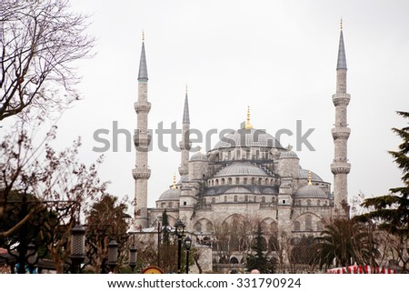 Blue Mosque in Istanbul. - stock photo