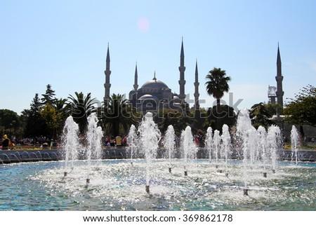 Blue mosque,Istanbul,Turkey - stock photo