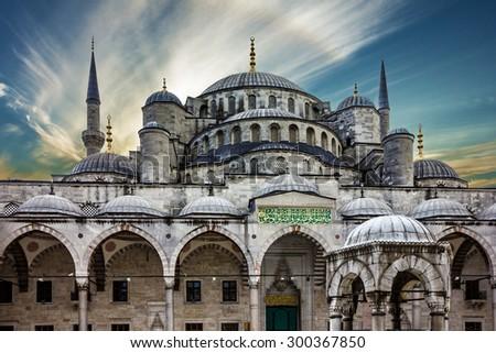 Blue mosque Sultanahmet, Istanbul, Turkey - stock photo