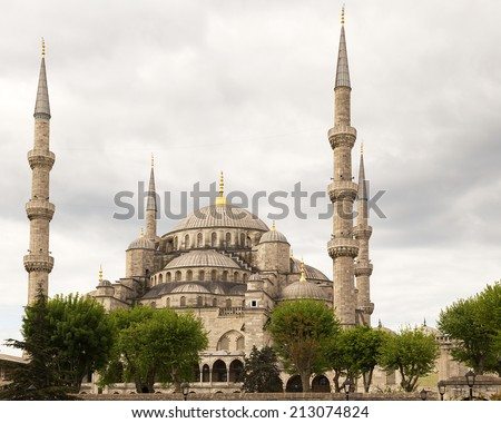 Blue Mosque Sultanahmet landmark, Istanbul, Turkey - stock photo