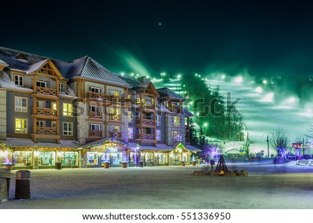 Blue Mountain Village in winter