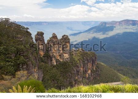 Blue Mountains range, New South Wales, Australia - stock photo