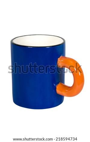 blue mug - stock photo