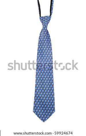 blue neck tie - stock photo