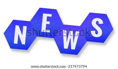 blue news icon isolated on white background