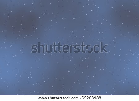 blue night sky with fog, mist and stars that tiles seamless in all directions - stock photo