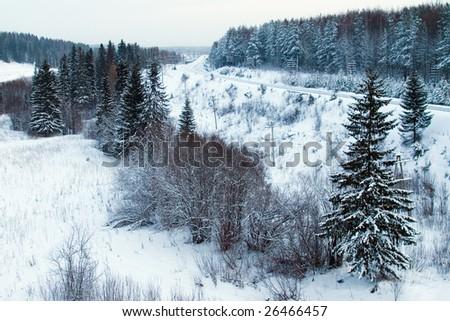 blue north landscape - stock photo