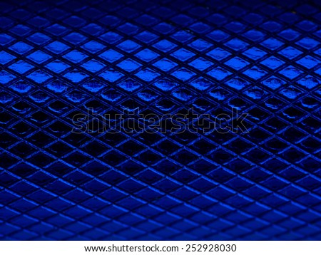 Blue notching metal texture - stock photo