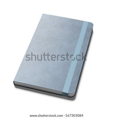 blue note book - stock photo
