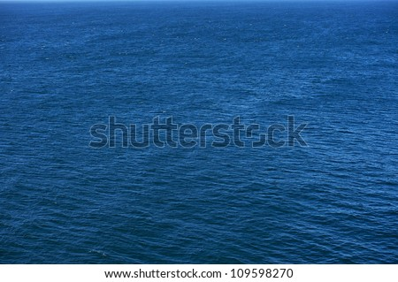 Blue Ocean Photo Background. Calm Ocean Waters. Nature Photo Collection. - stock photo