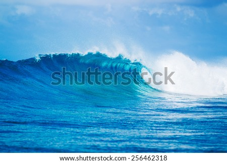 Blue Ocean Wave, Epic Surf - stock photo