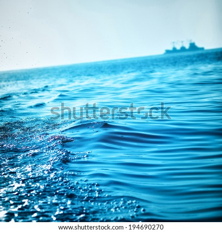 blue ocean waves background, Andaman Sea, Thailand - stock photo