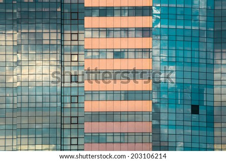 Blue office window, Backgrounds