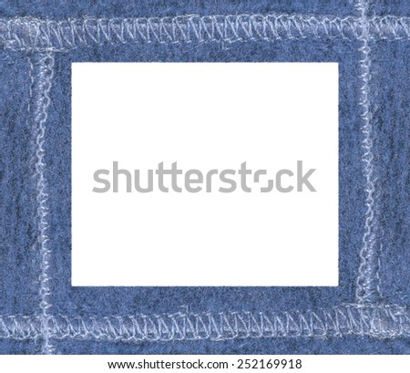 blue old leather photo frame
