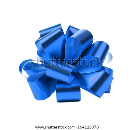 Blue packaging band. Isolated on a white background. - stock photo