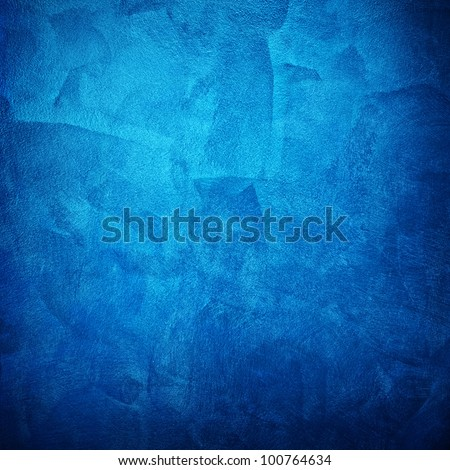 blue paint - stock photo