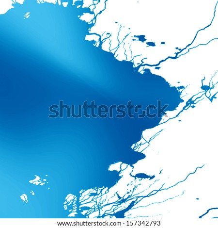 blue paint background with some smooth lines in it
