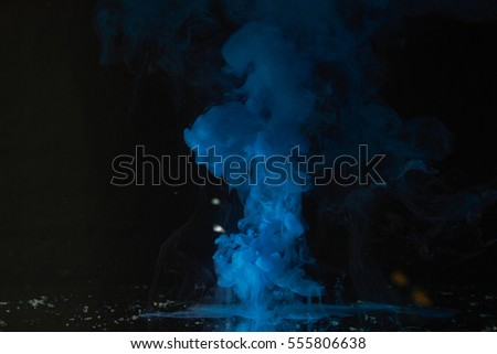 blue paint black white blue paint flowing water medium stock photo 555808249