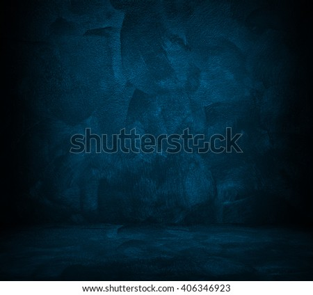 blue paint interior background