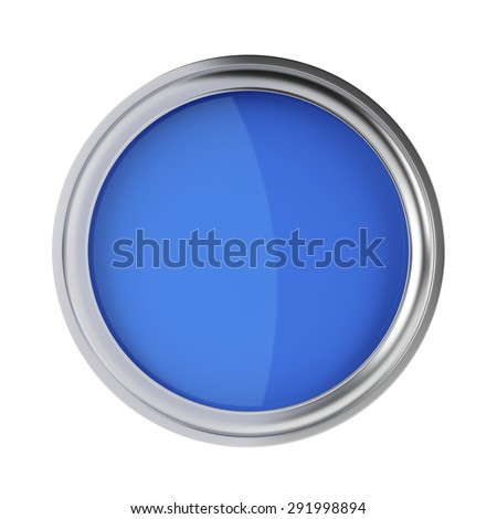 Blue paint isolated on a white background, top view - stock photo