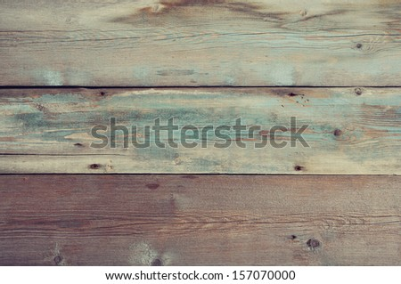 Blue painted wooden background. Wooden texture. - stock photo