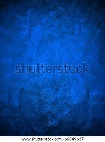 blue painting background - stock photo