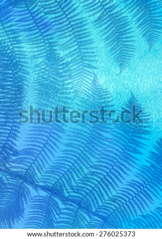 blue palm leaves