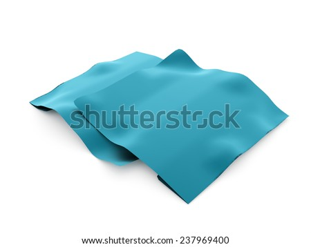 Blue paper concept rendered isolated on white