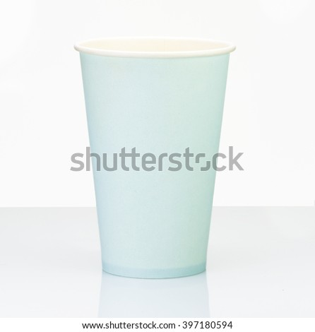 Blue  Paper Cup close up