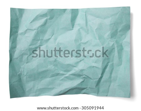 Blue paper grunge background vignette isolated on white background - stock photo