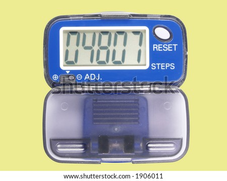 Blue pedometer two, contains clipping path