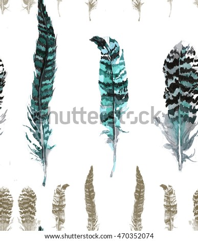 blue pheasants feathers pattern