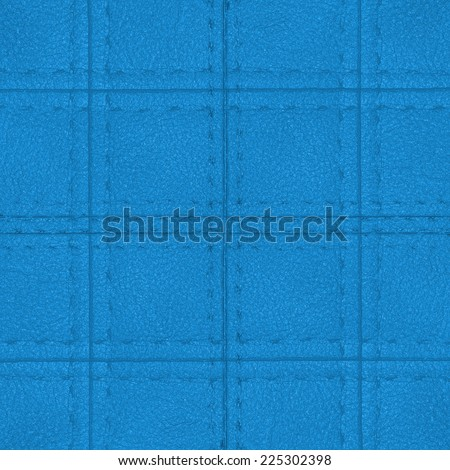 blue plaid artificial leather texture, seam. Useful as background for design-works