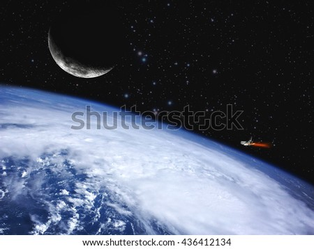 Blue planet, abstract science backgrounds. NASA imagery used