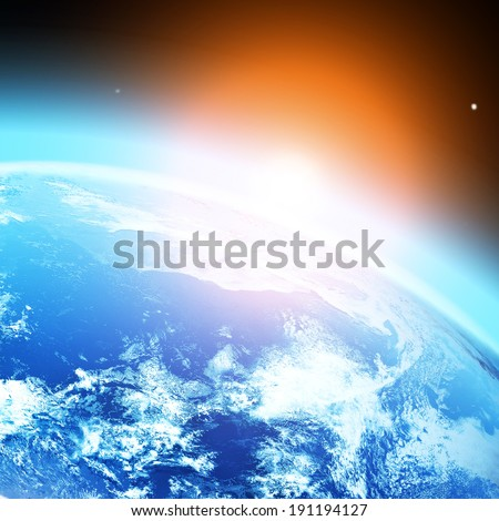blue planet earth in space. Elements of this image furnished by NASA